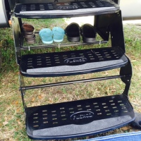 Use your Camper Steps to store your shoes.