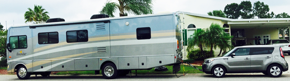 Your RV TOAD setting up a car for towing RV and CAMPER Info