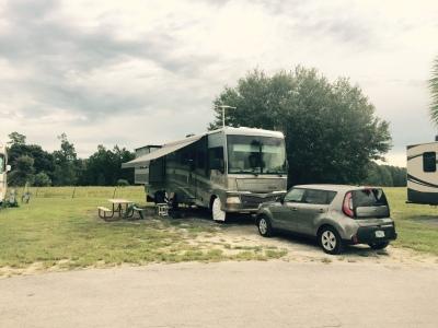 Campsite in Orlando